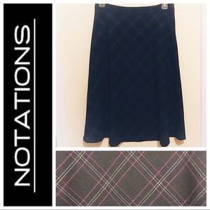 Notations Black Shirt with Geometric Pattern S 10